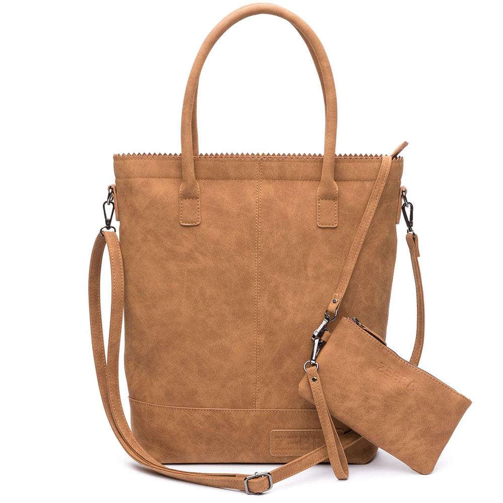Zebra Trends Natural Bag Kartel Rits Fearless Camel 600077