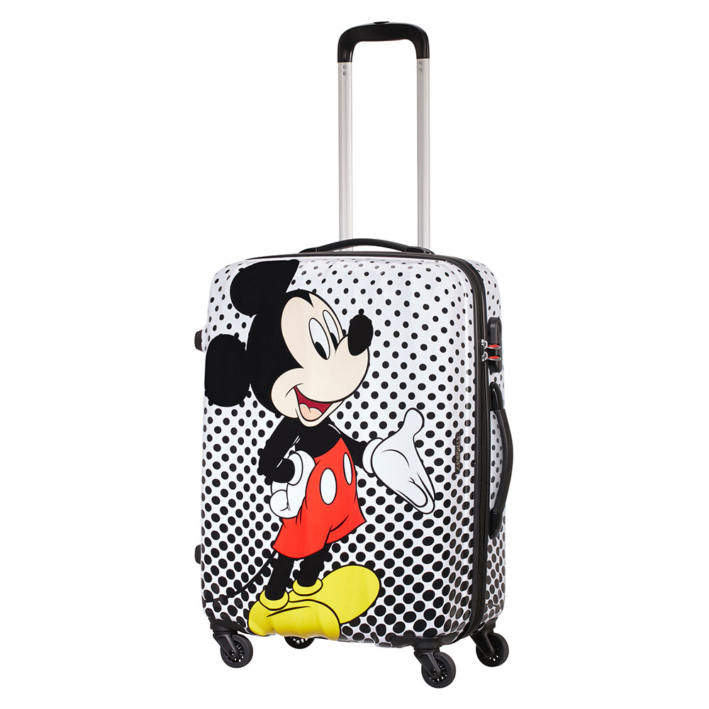 American Tourister Disney Legends Spinner 65 Mickey Mouse Polka Dot