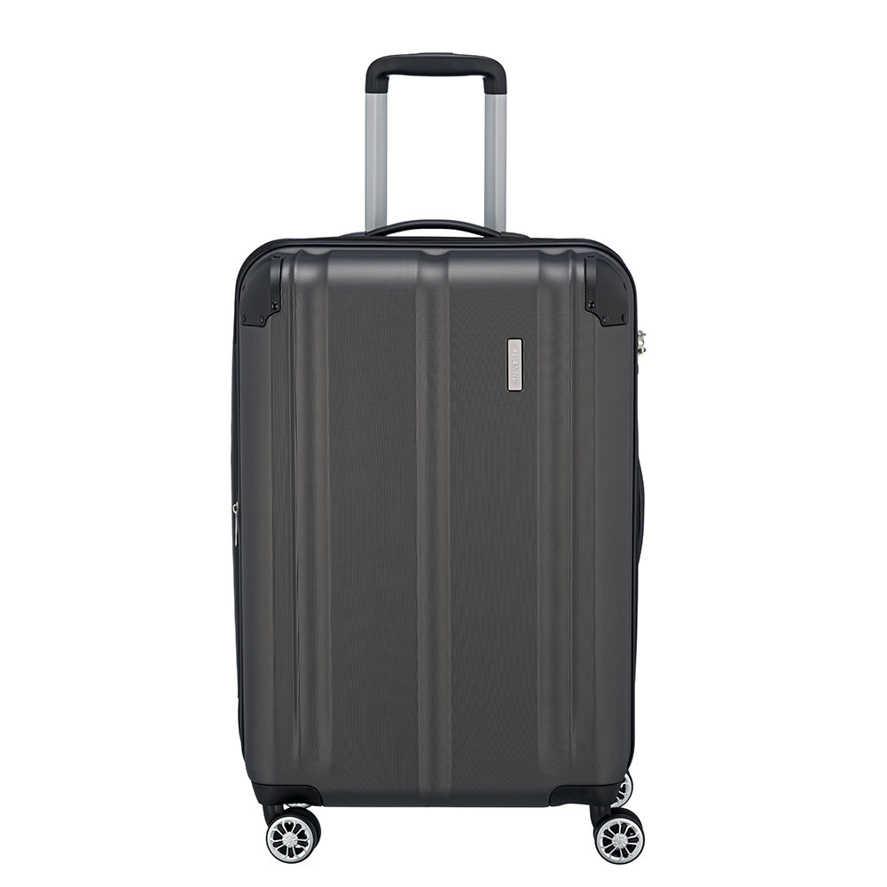 Travelite City 4 Wheel Trolley M Expandable Antraciet