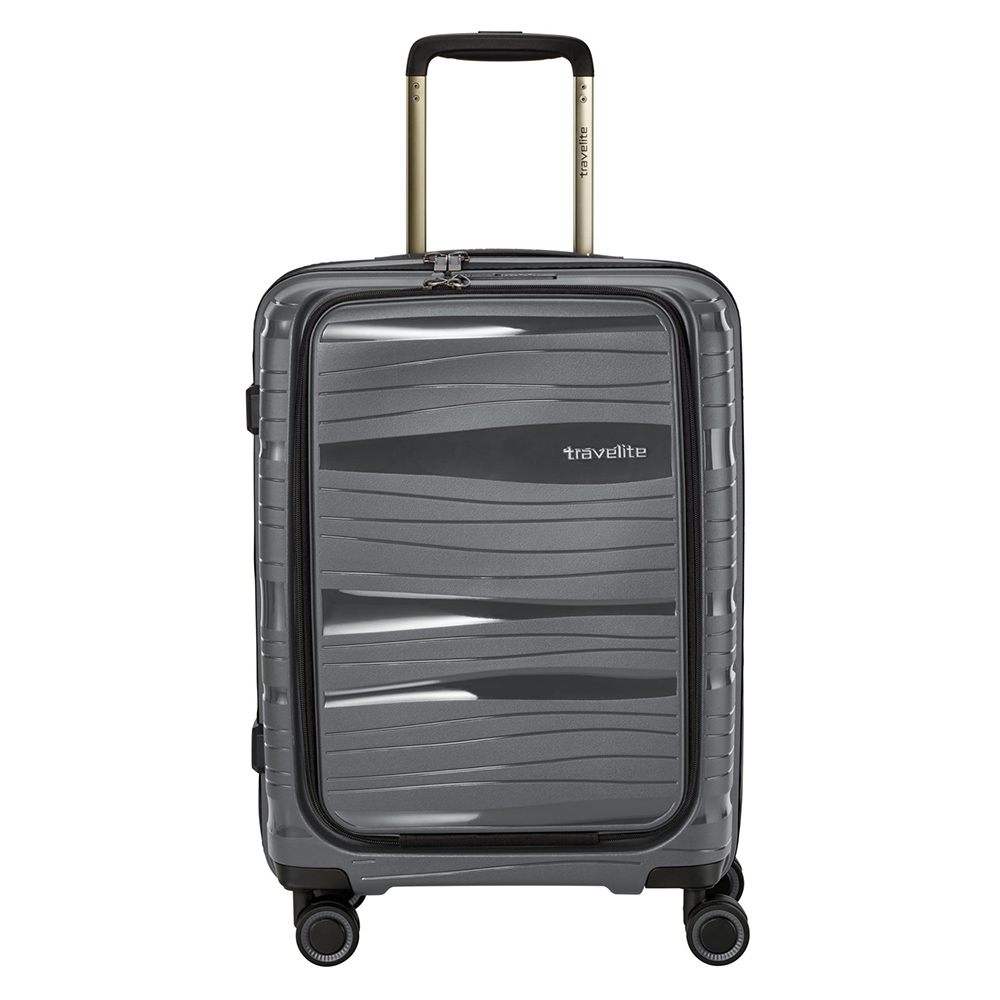Travelite Motion 4 Wheel Trolley S Frontpocket Anthracite