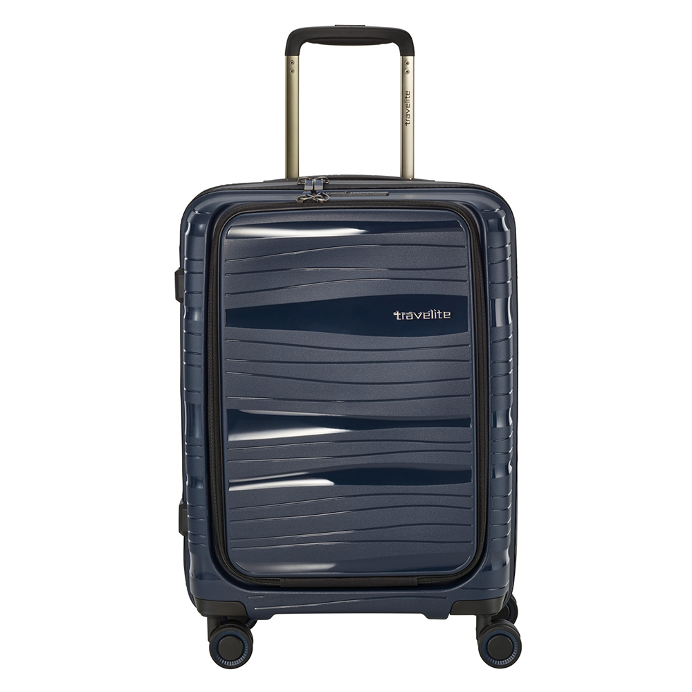Travelite Motion 4 Wheel Trolley S Frontpocket Navy