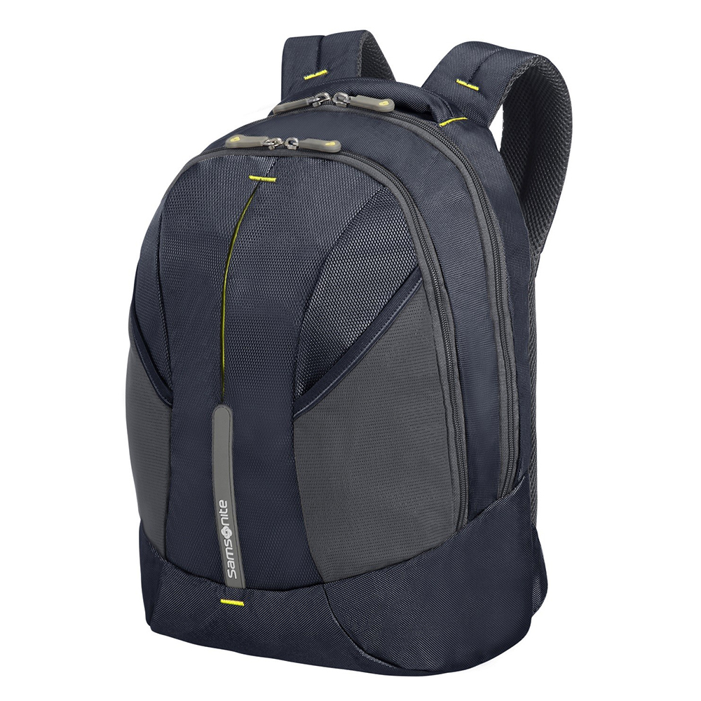 Samsonite Samsonite 4Mation Laptop Backpack M Midnight Blue Yellow Casual Rugtassen
