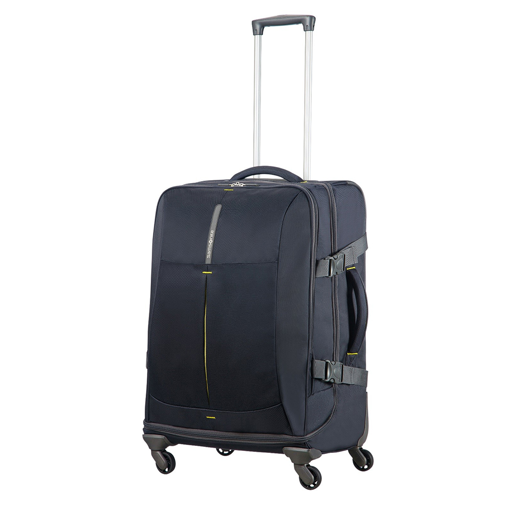 Samsonite 4Mation Spinner Duffle 67 Midnight Blue Yellow Samsonite Kopen