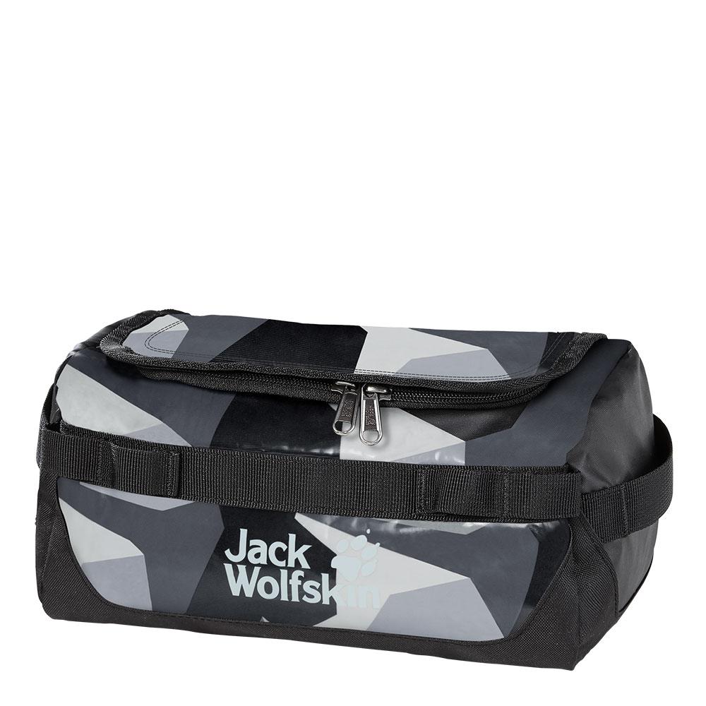 Jack Wolfskin Expedition Wash Bag Toilettas Grey Geo Block
