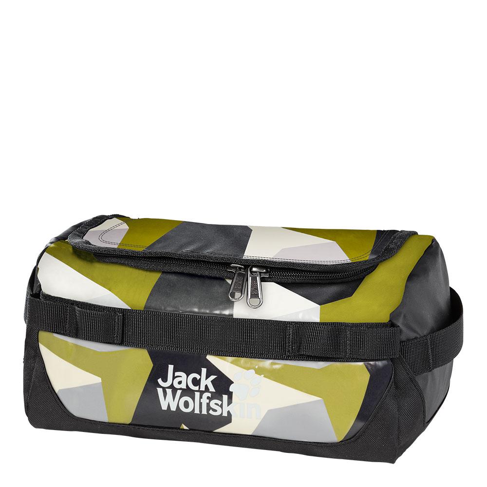 Jack Wolfskin Expedition Wash Bag Toilettas Green Geo Block