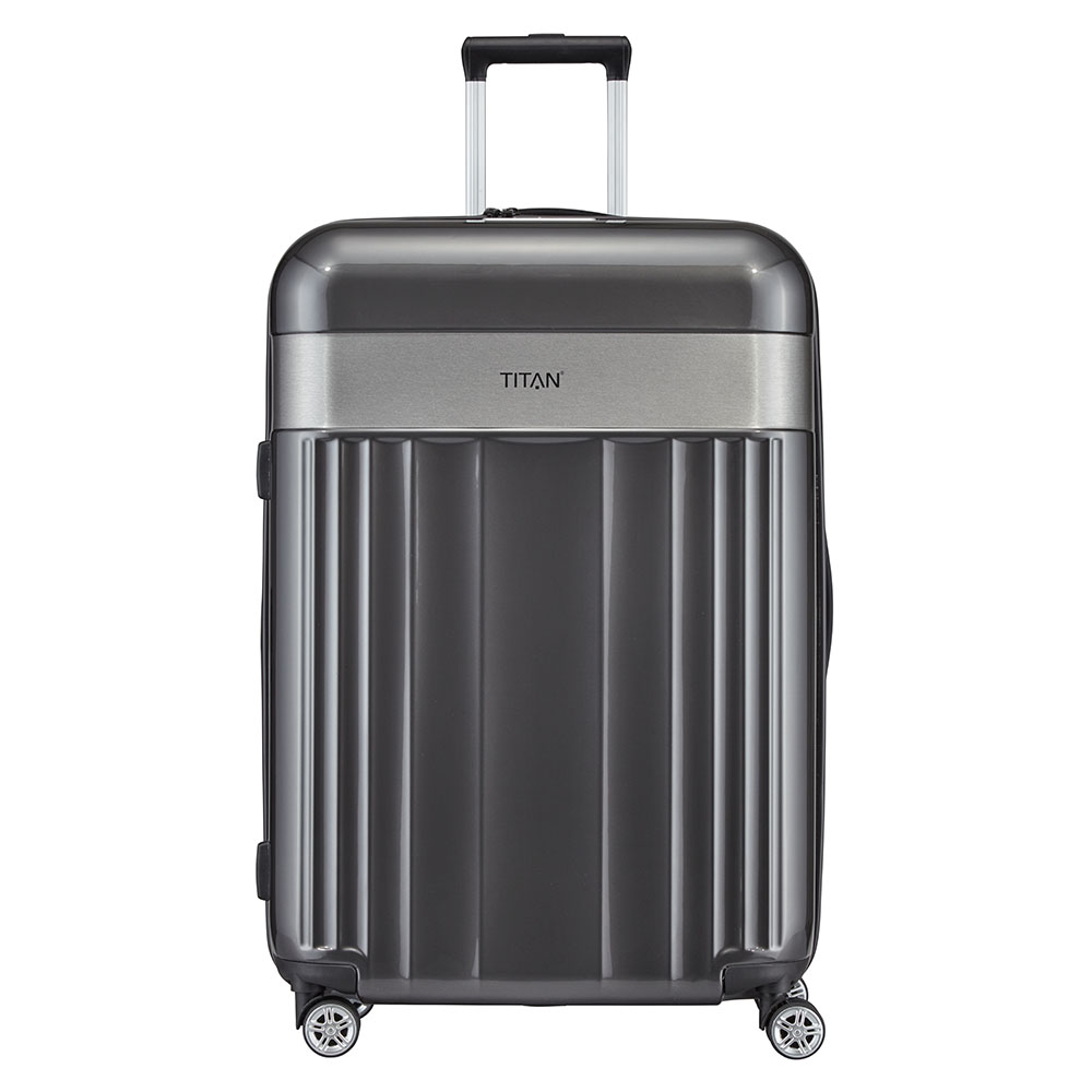 Titan Spotlight Flash 4 Wheel Trolley L Anthracite Titan Harde Koffers