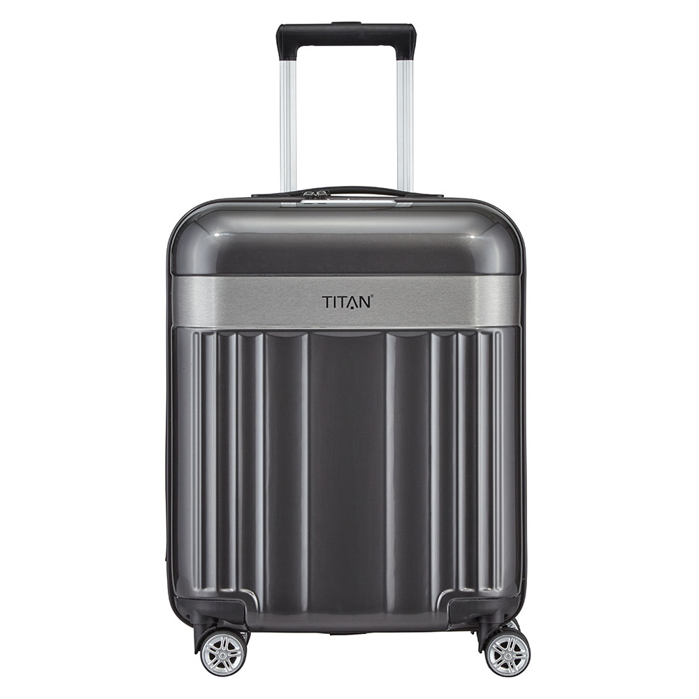 Titan Spotlight Flash 4 Wiel Trolley S antracite Harde Koffer