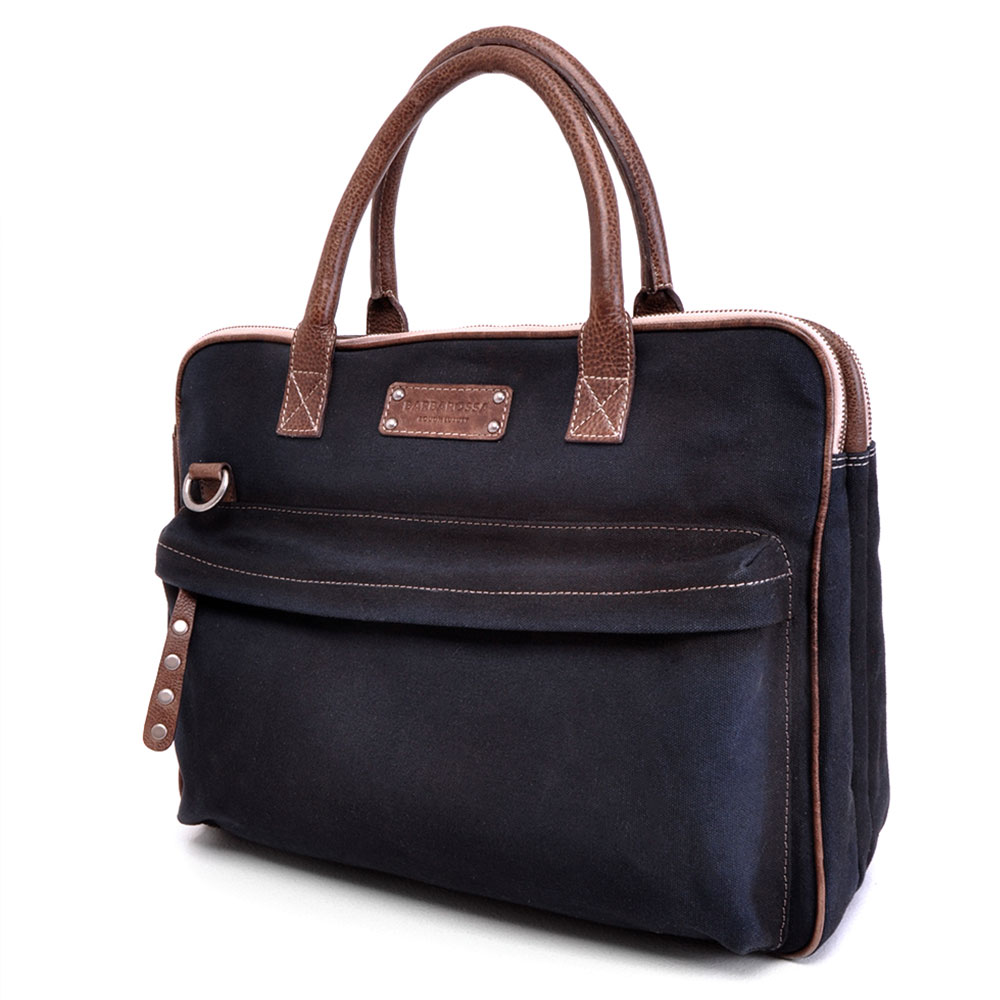 "Afbeelding van Barbarossa Canvasco Laptoptas 15.6"" Navy"