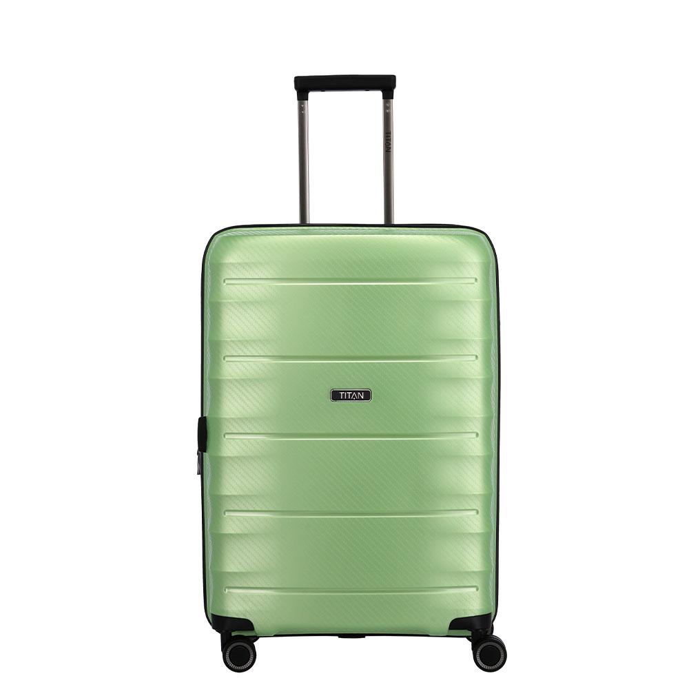 Titan Highlight 4 Wheel Trolley M Expandable Green Metallic