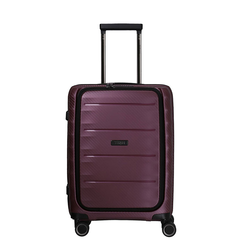 Titan Highlight 4 Wheel Business Trolley S Front Pocket Merlot