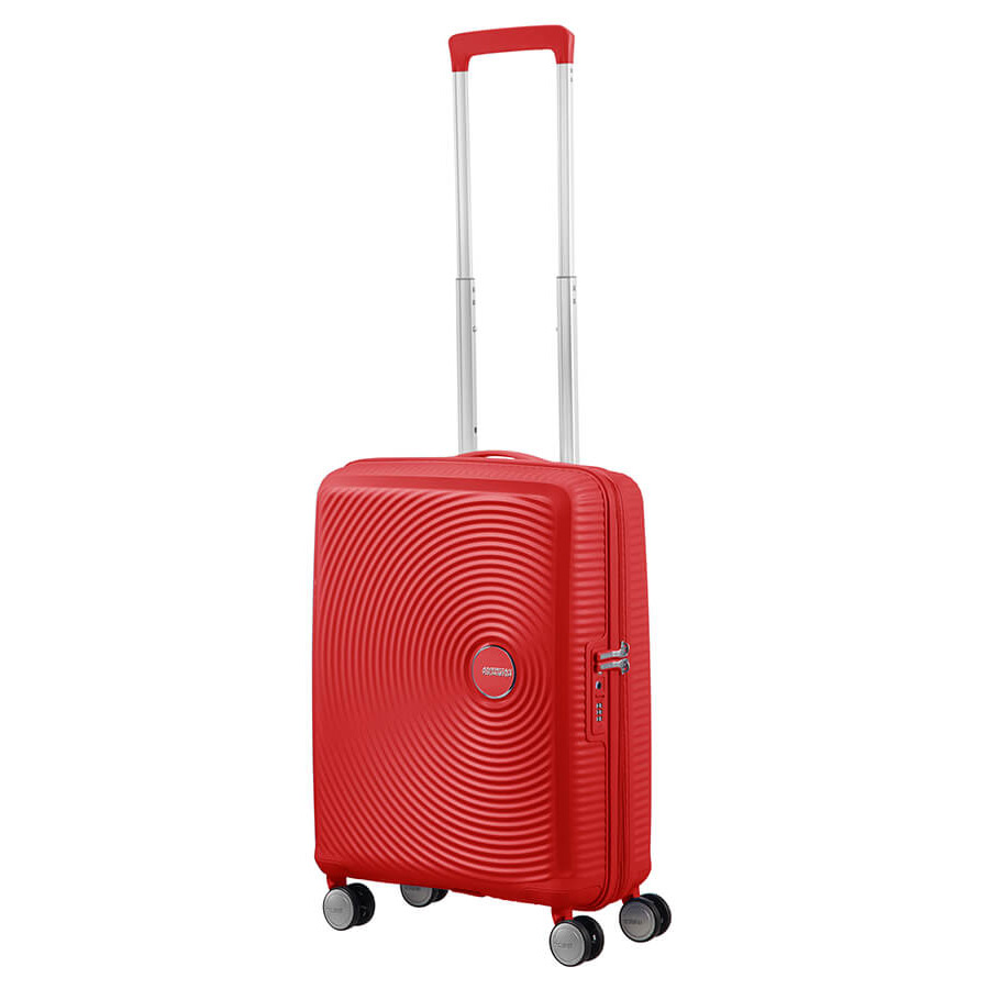 American Tourister Soundbox Spinner 55 Expandable Coral Red
