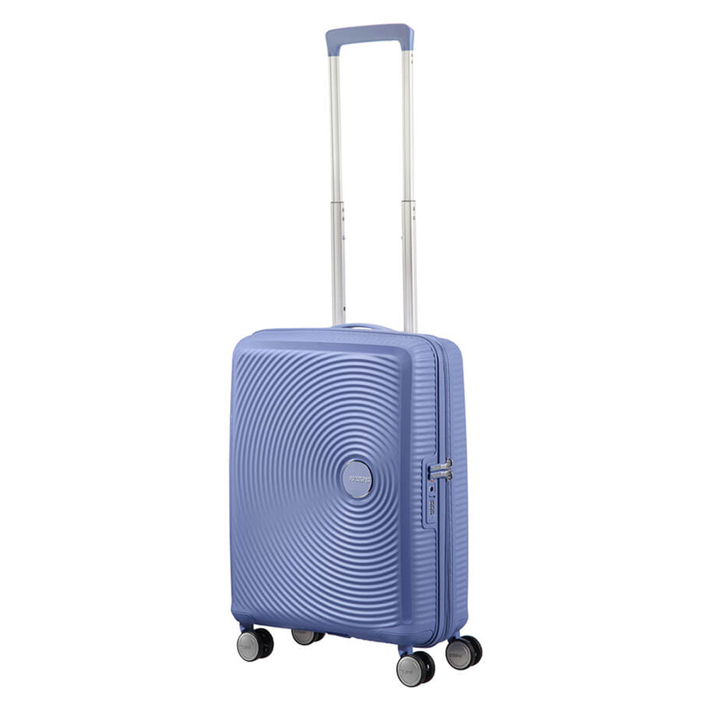 Harde Koffers American Tourister Soundbox Spinner 55 Exp. Denim Blue