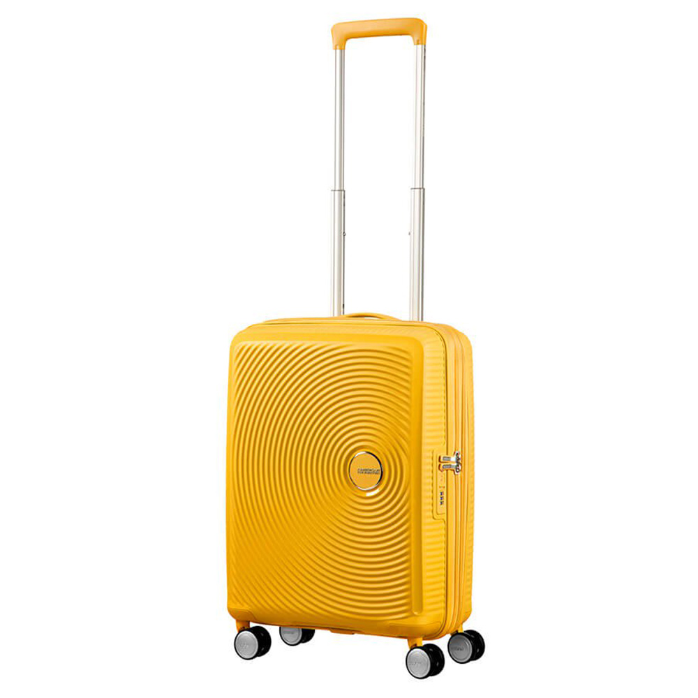 American Tourister Soundbox Spinner 55 Expandable Golden Yellow