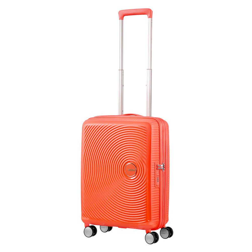 American Tourister American Tourister Soundbox Spinner 55 Exp. Spicey Peach Harde Koffers