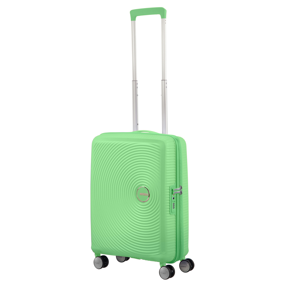 American Tourister Soundbox Spinner 55 Expandable Spring Green