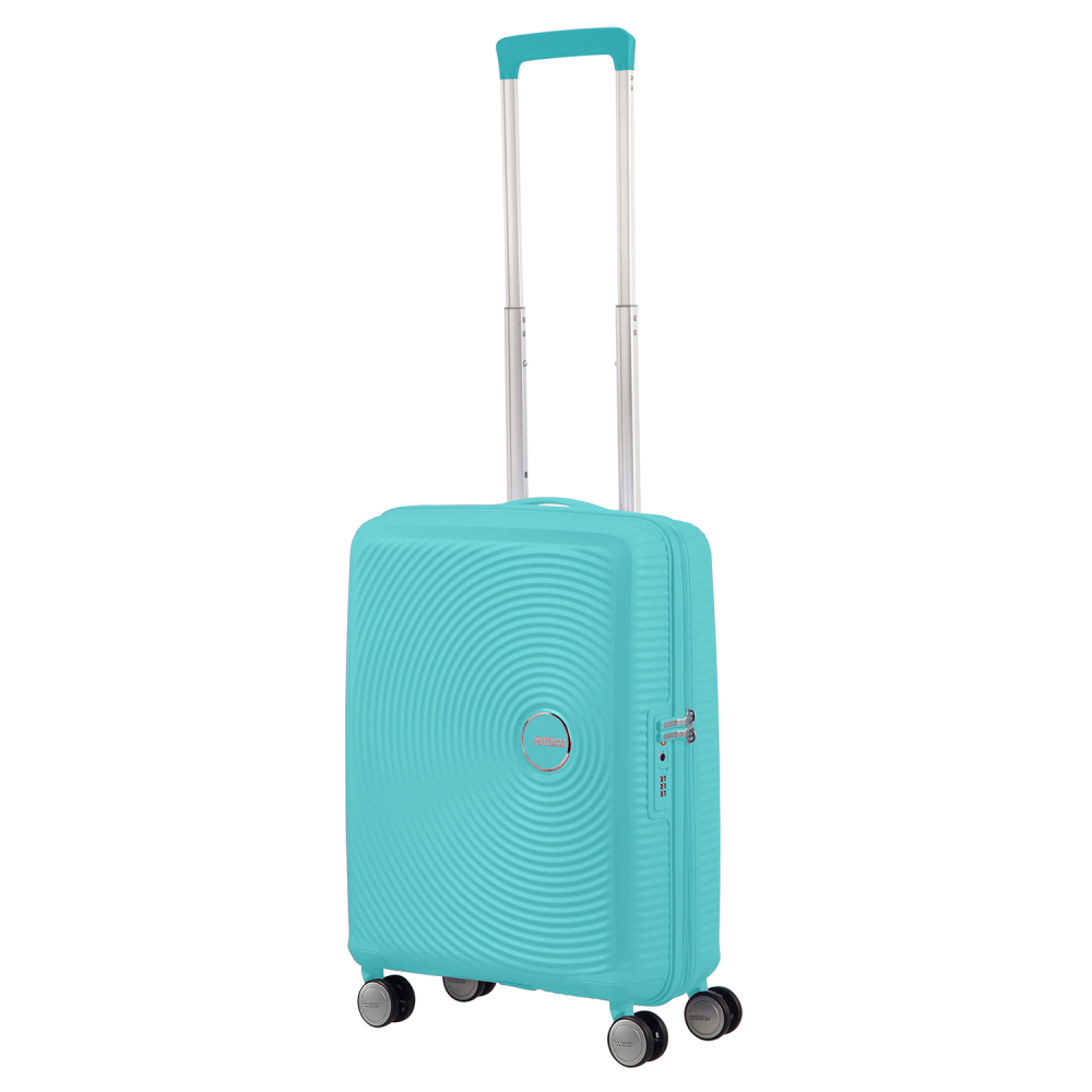 American Tourister Soundbox Spinner 55 Expandable Poolside Blue