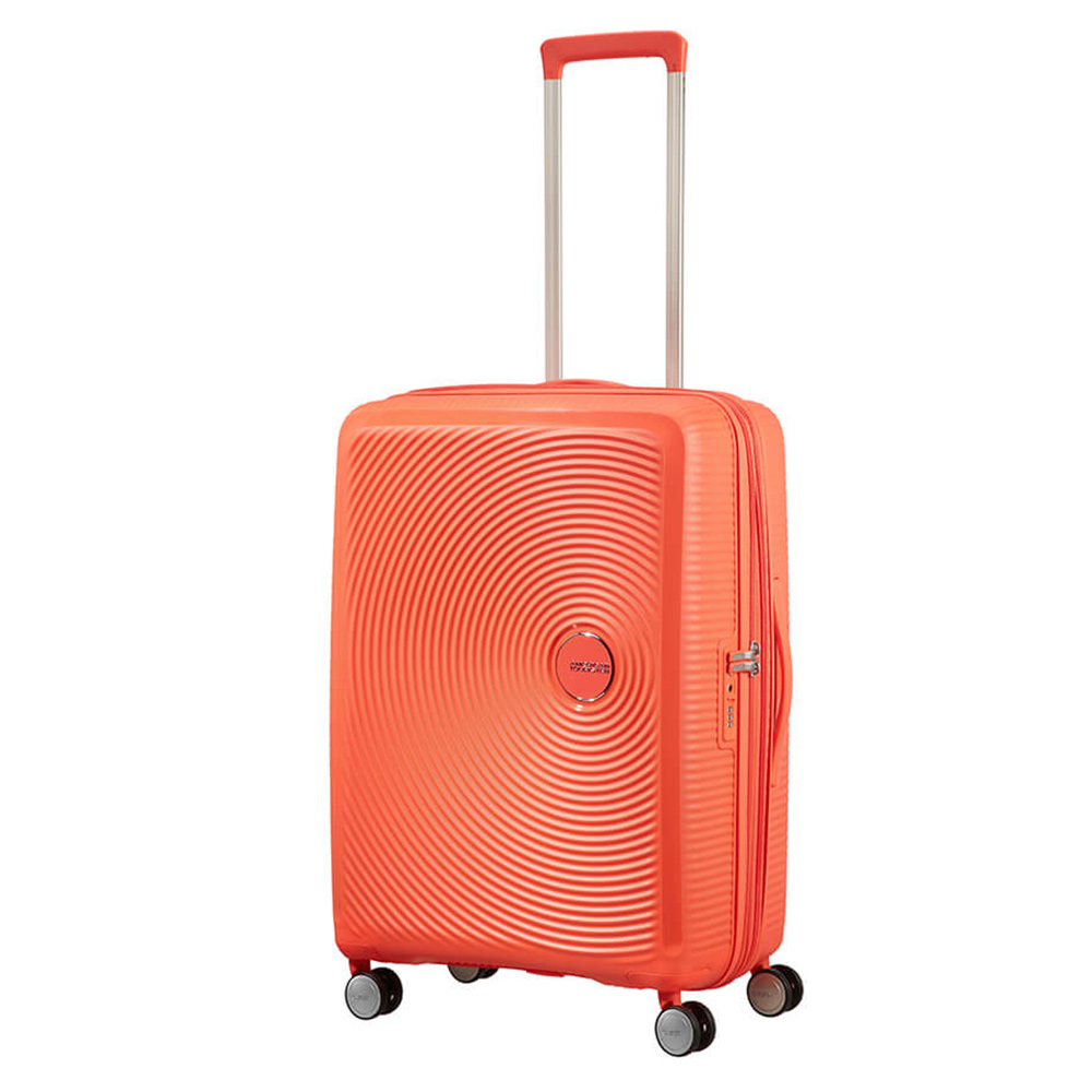 American Tourister Soundbox Spinner 67 Exp. Spicey Peach American Tourister Harde Koffers