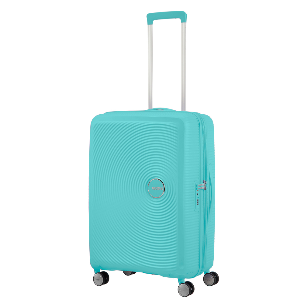 American Tourister Soundbox Spinner 67 Expandable Poolside Blue