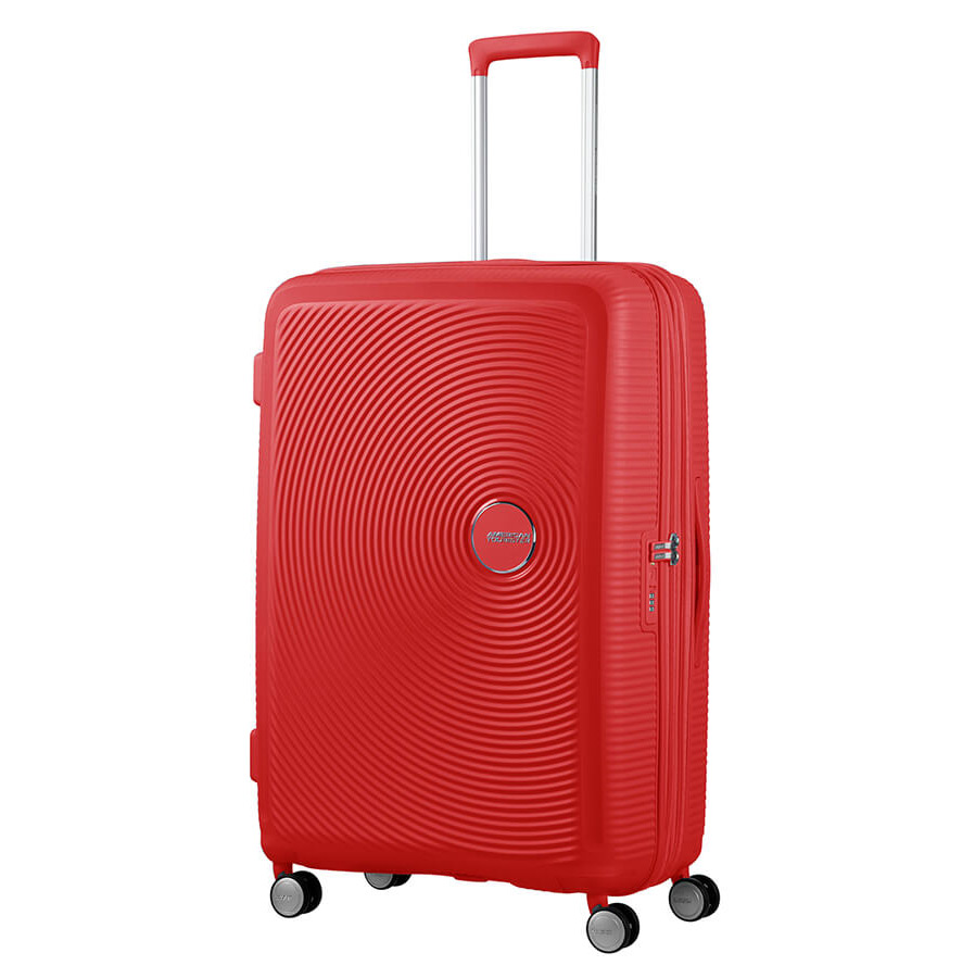 American Tourister Soundbox Spinner 77 Expandable Coral Red