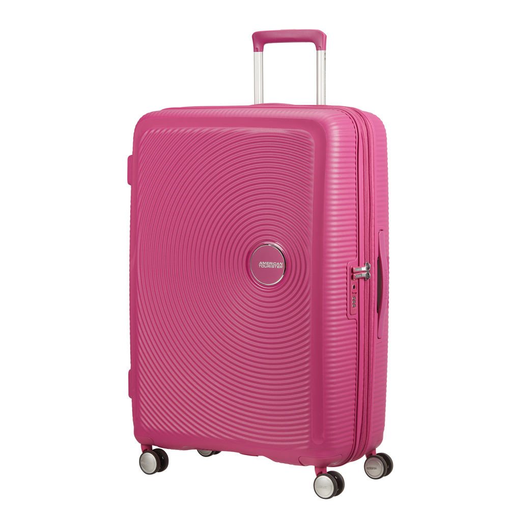 American Tourister Soundbox Spinner 77 Expandable Magenta