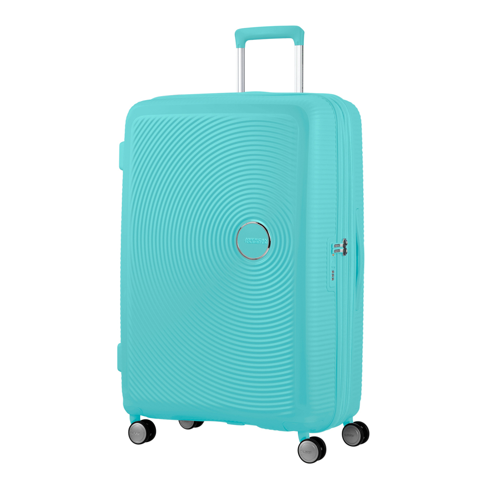 American Tourister Soundbox Spinner 77 Expandable Poolside Blue