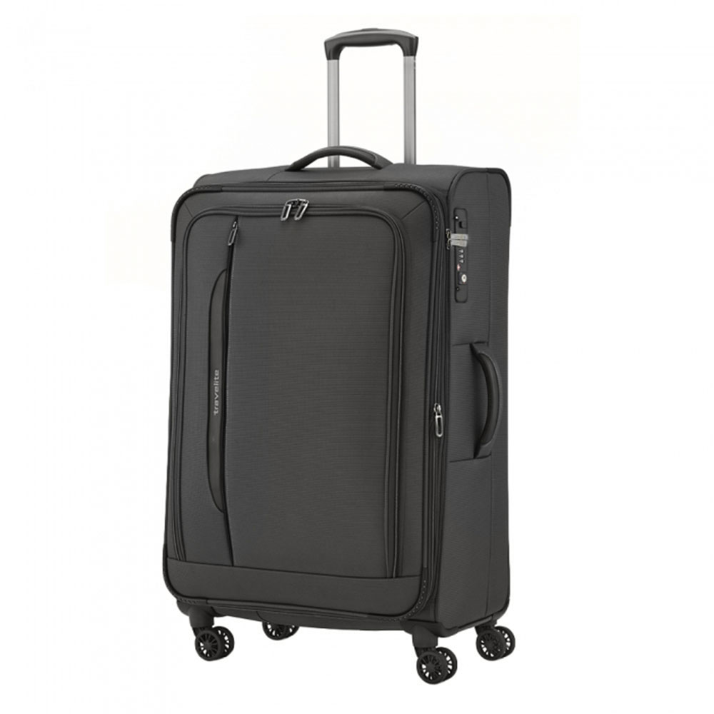 Travelite CrossLite 4 Wheel Trolley L Exp. Black