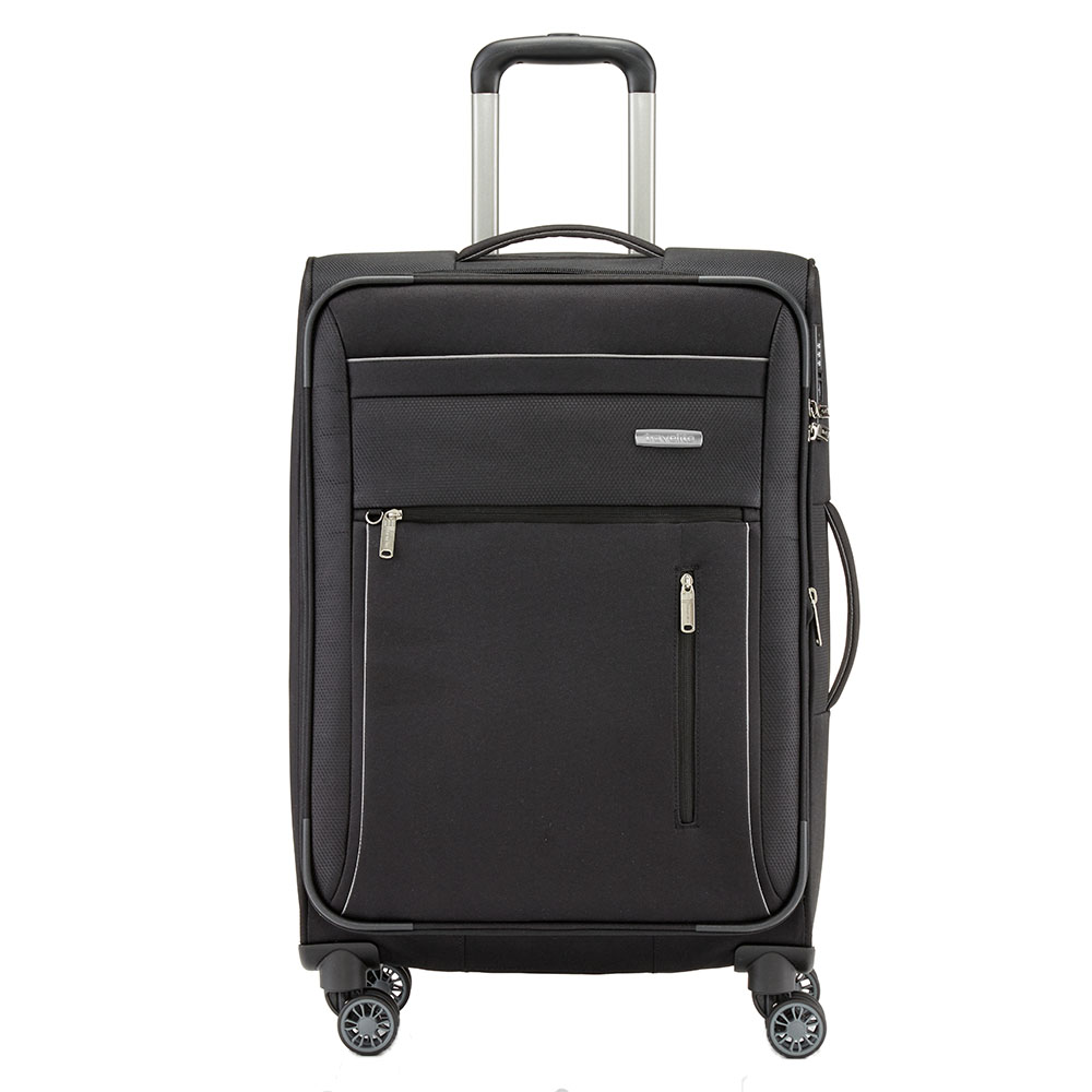 Travelite Capri 4 Wheel Trolley M Expandable Black