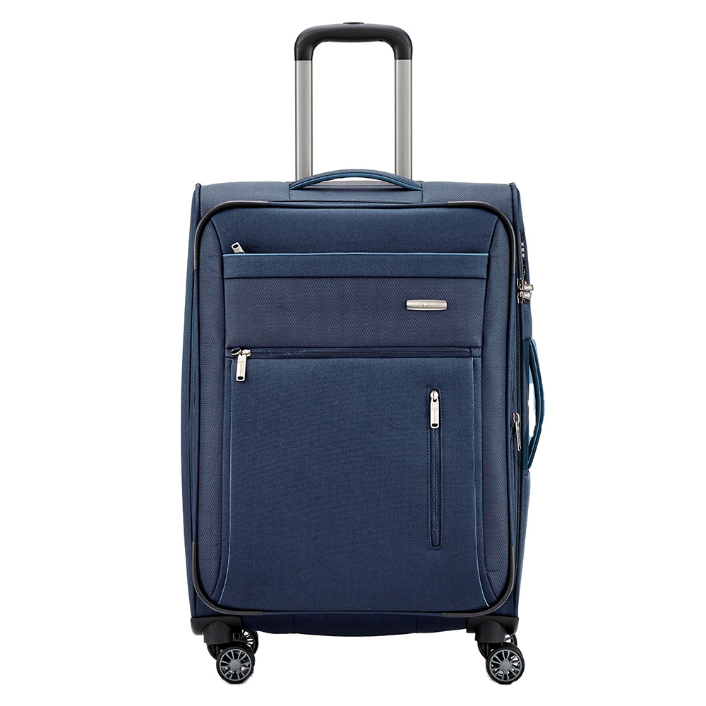 Travelite Capri 4 Wheel Trolley M Expandable Navy
