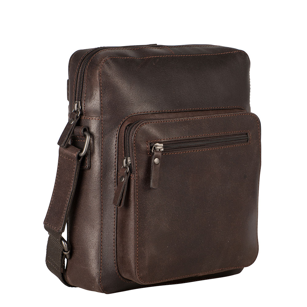 Leonhard Heyden Dakota Messenger Bag S Brown 7486