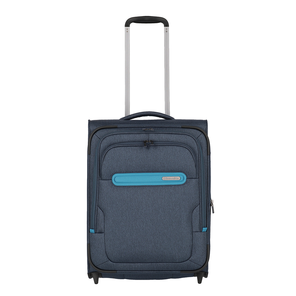 Travelite Madeira Upright 2 Wiel Trolley S Navy/Turquoise