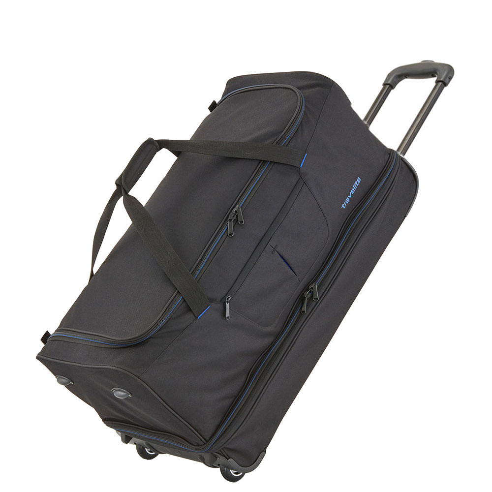 Travelite Basics Wheeled Duffle 55cm Expandable Black/Blue