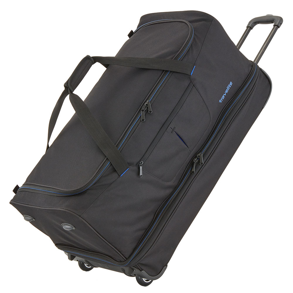 Travelite Basics Wheeled Duffle 70cm Expandable Black/Blue