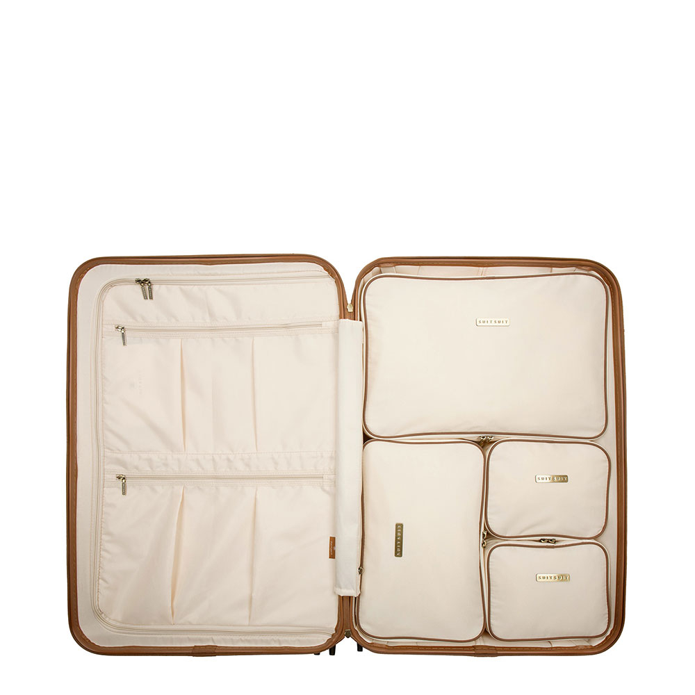 SuitSuit Fab Seventies Packing Cube Set Large 76 cm Antique White