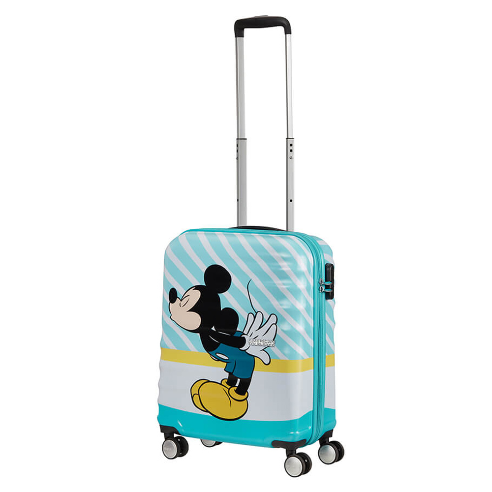 American Tourister Wavebreaker Disney Spinner 55 Mickey Blue Kiss