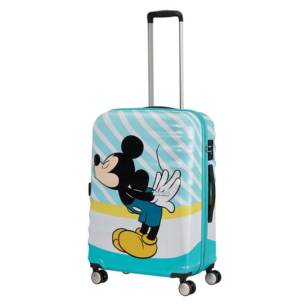 American Tourister Wavebreaker Disney Spinner 67 Mickey Blue Kiss