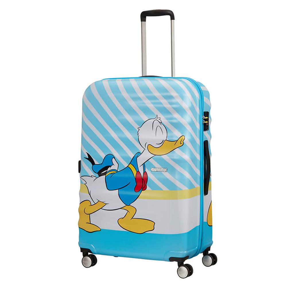 American Tourister Wavebreaker Disney Spinner 77 Donald Blue Kiss
