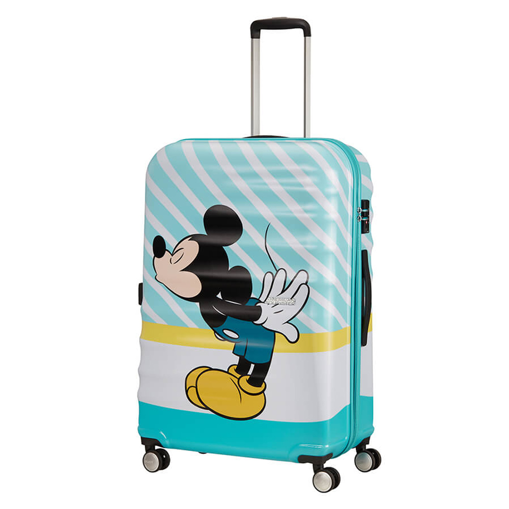 American Tourister Wavebreaker Disney Spinner 77 Mickey Blue Kiss