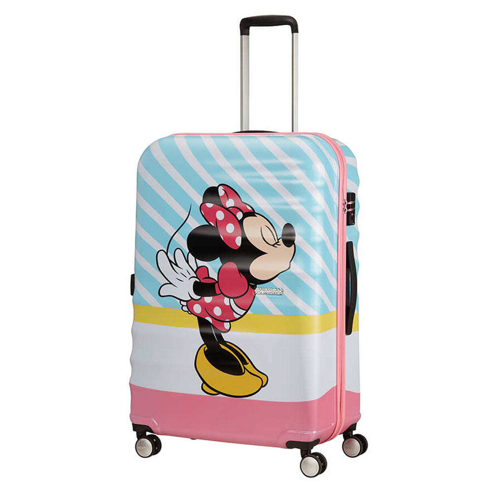 American Tourister Wavebreaker Disney Spinner 77 Minnie Pink Kiss