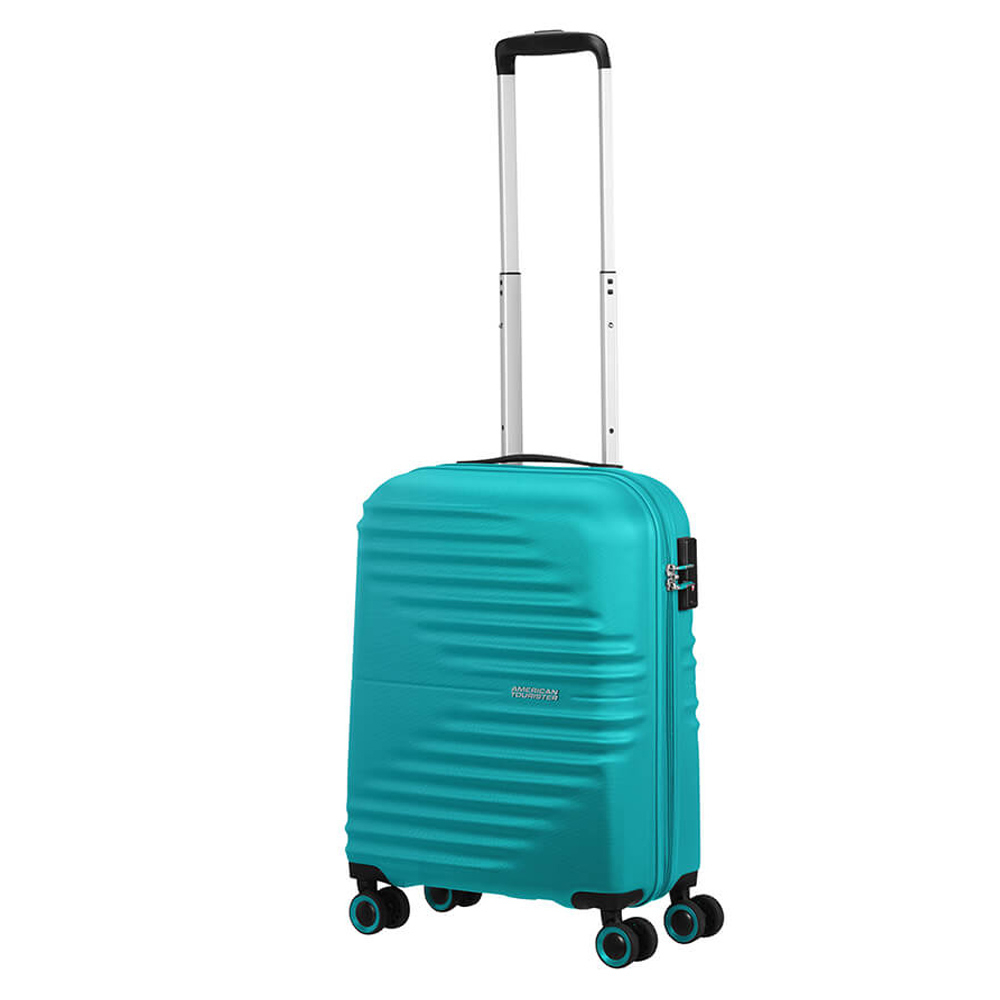 American Tourister Wavetwister Spinner 55 Aqua Turquoise