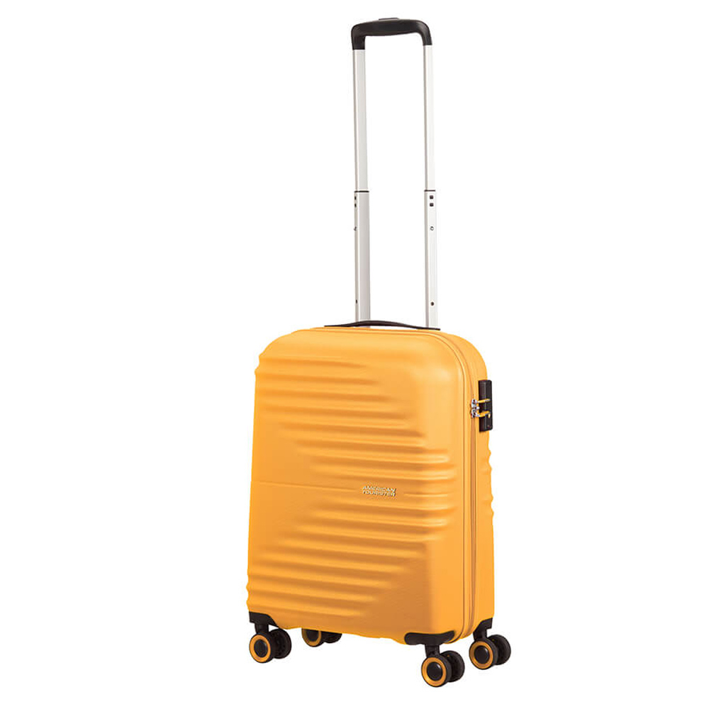 American Tourister Wavetwister Spinner 55 Sunset Yellow