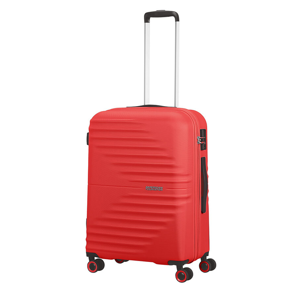 American Tourister Wavetwister Spinner 66 Vivid Red