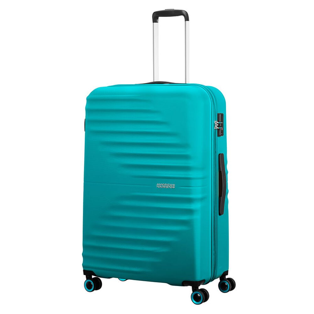 American Tourister Wavetwister Spinner 77 Aqua Turquoise