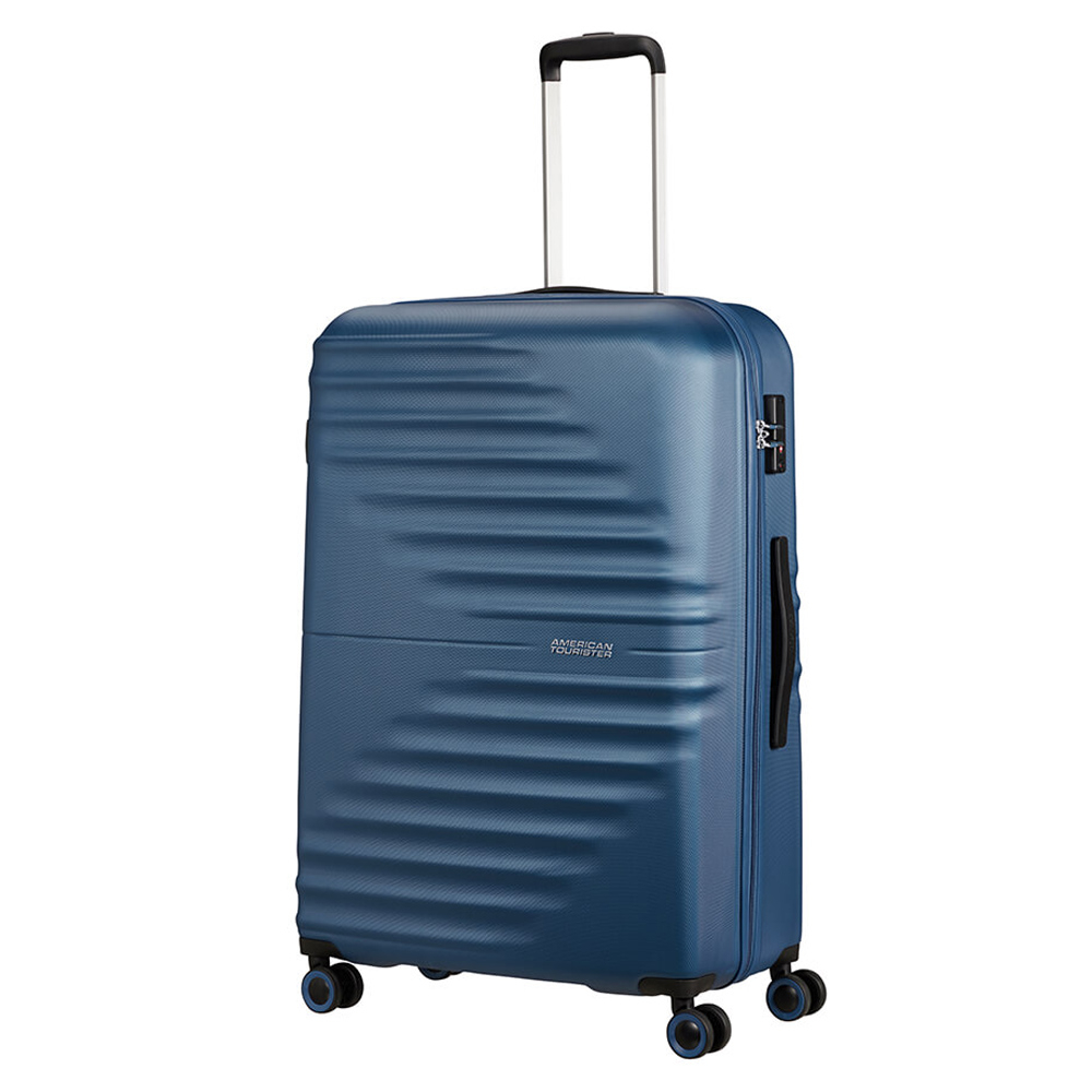 American Tourister Wavetwister Spinner 77 Dark Navy