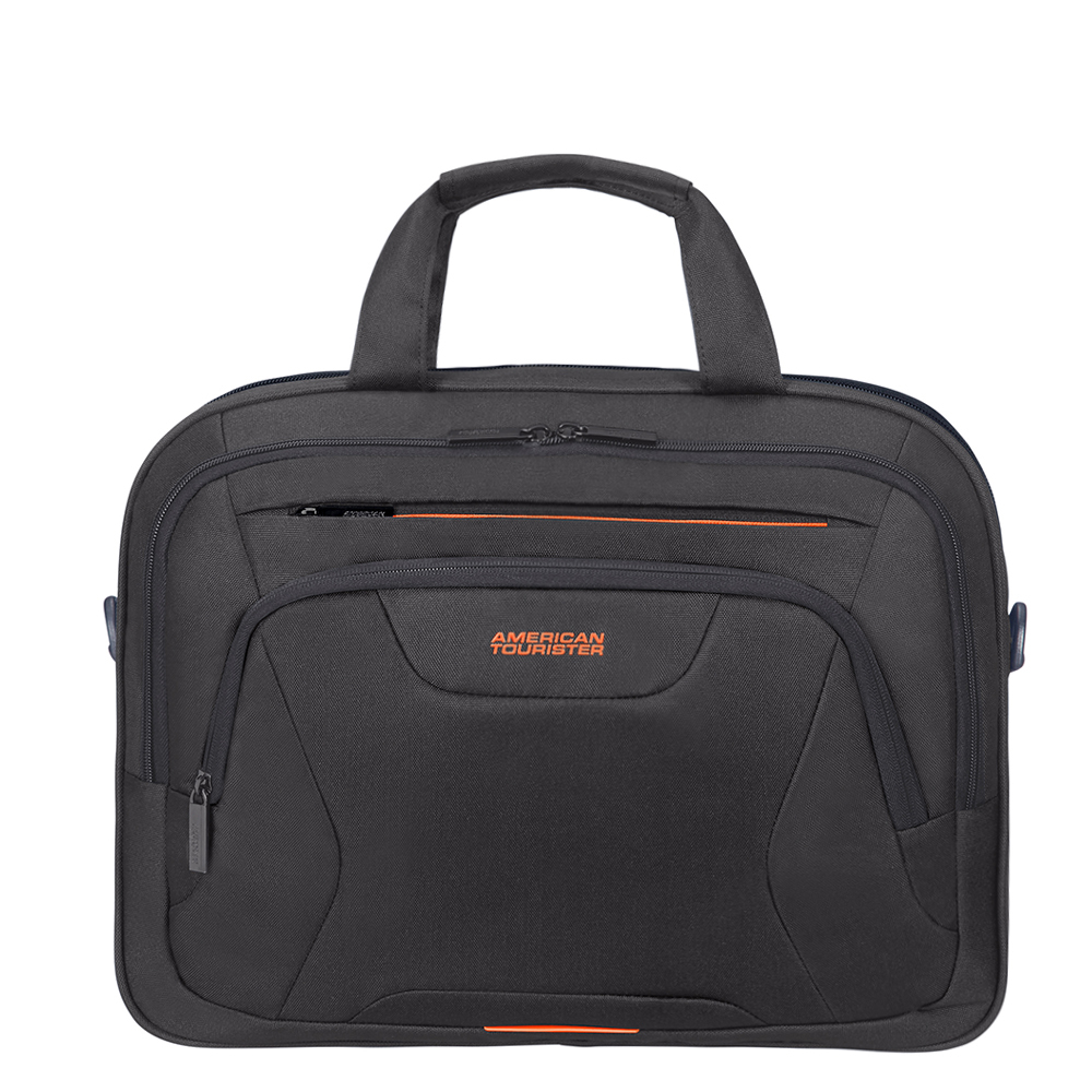American Tourister AT Work Laptop Bag 15.6 Black/Orange
