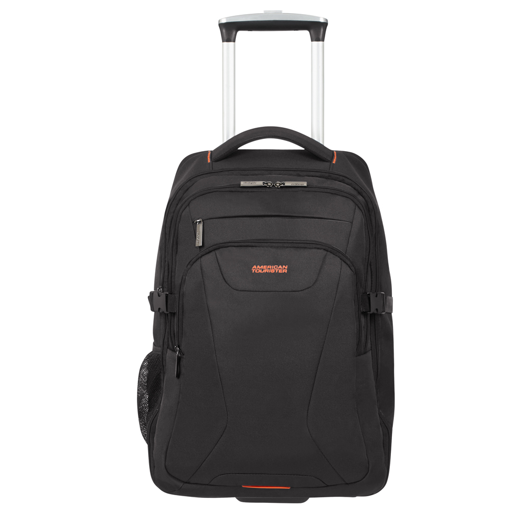 American Tourister At Work Laptop Backpack Wheels 15.6'' Black/Orange - Zakenkoffers