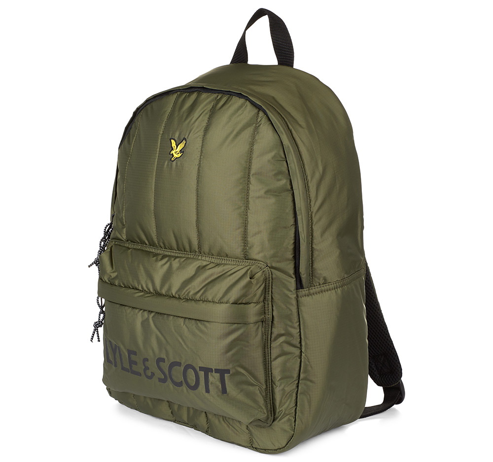 Lyle & Scott Wadded Rucksack Woodland Green