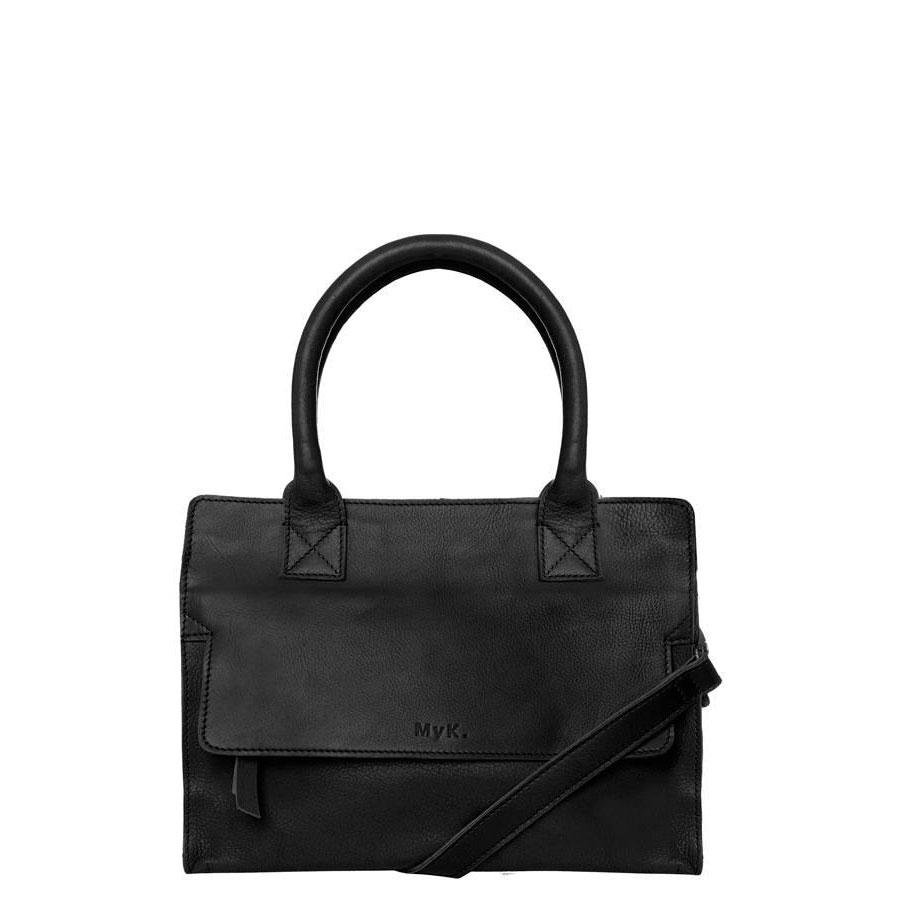 MyK Bags-Handtassen-Bag Cityhopper-Zwart