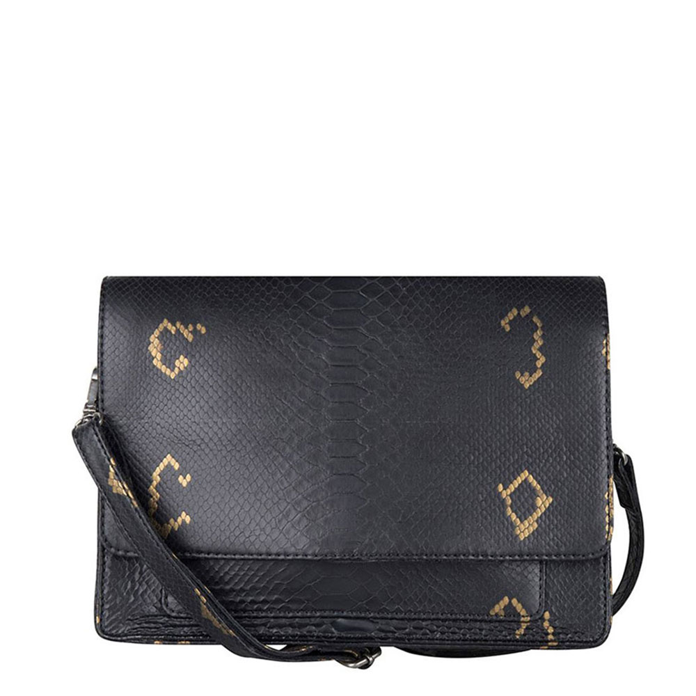 Cowboysbag X Bobbie Bodt Bag Onyx Schoudertas Snake Black And Gold