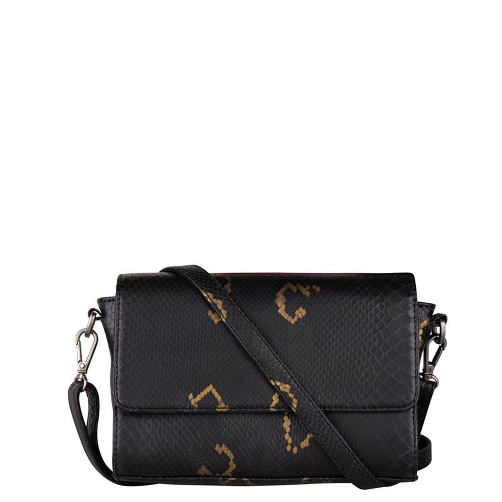Cowboysbag X Bobbie Bodt Bag Topaz Schoudertas Snake Black And Gold