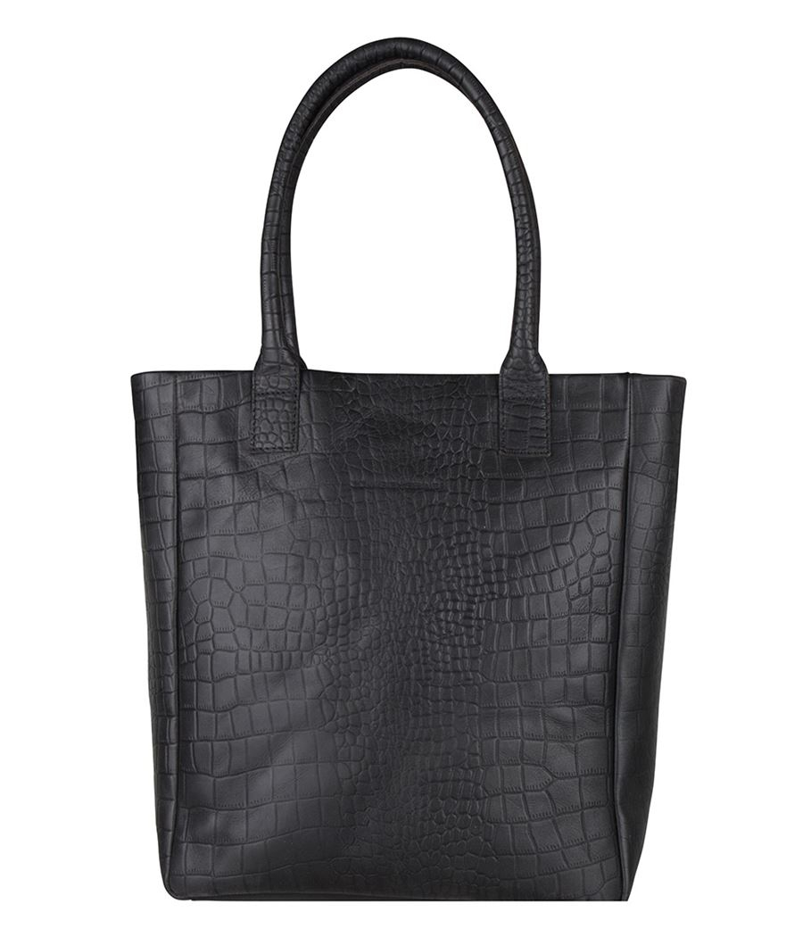 Cowboysbag X Bobbie Bodt Bag Quartz 13 Shopper Croco Black